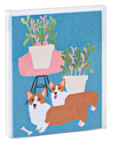 Two Corgis Notecard Set