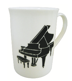 Bone China Mug - Grand Piano