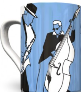 Bone China Mug - Blues