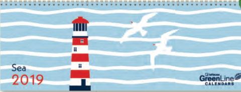 GreenLine Desk Calendar - Sea