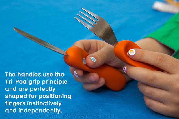 Check out this very cool indiegogo campaign to make ergonomically designed, child friendly cutlery