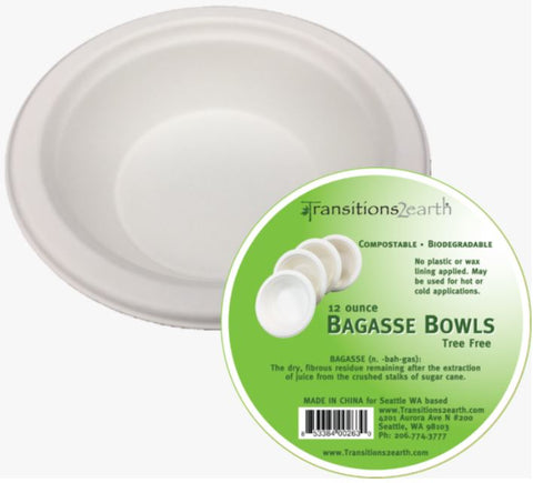 Bagasse 12 oz. Bowl