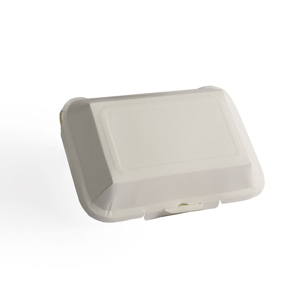 "Transitions2earth PFAS-Free Non-Toxic Compostable 7"" x 5"" Clamshell Takeout Container - Package of 100 - Plant a Tree With Each Item Purchased!…"