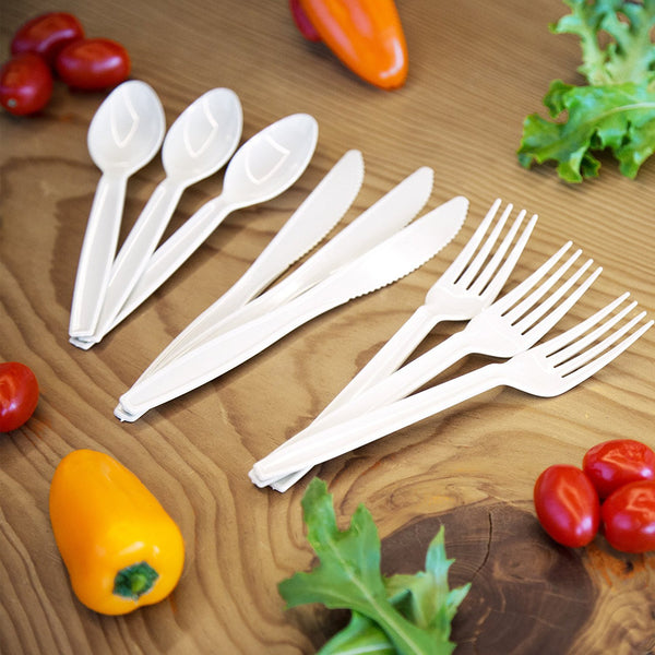 Transitions2earth Biodegradable EcoPure Cutlery - Combo Box of 400