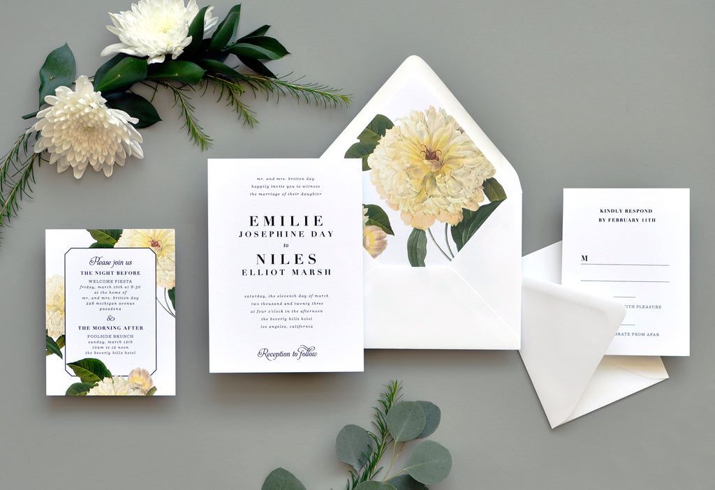 Classic Belle Custom Wedding Invitation