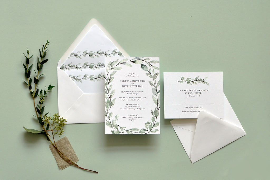 Delicate Willow Custom Wedding Invitation