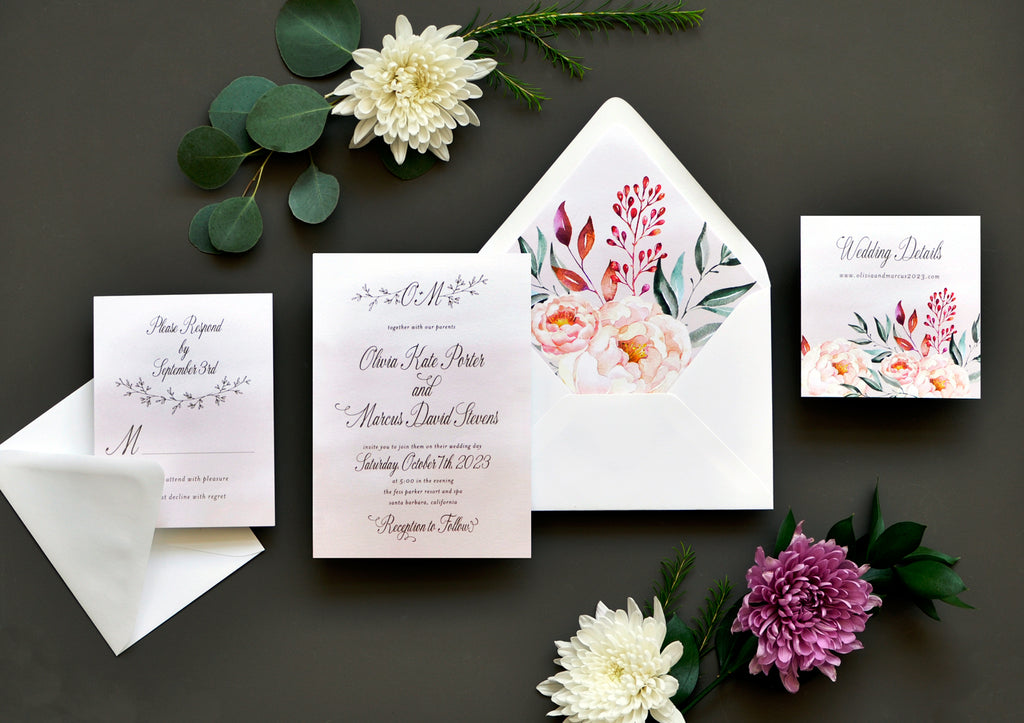 Enchanted Drift Custom Wedding Invitation