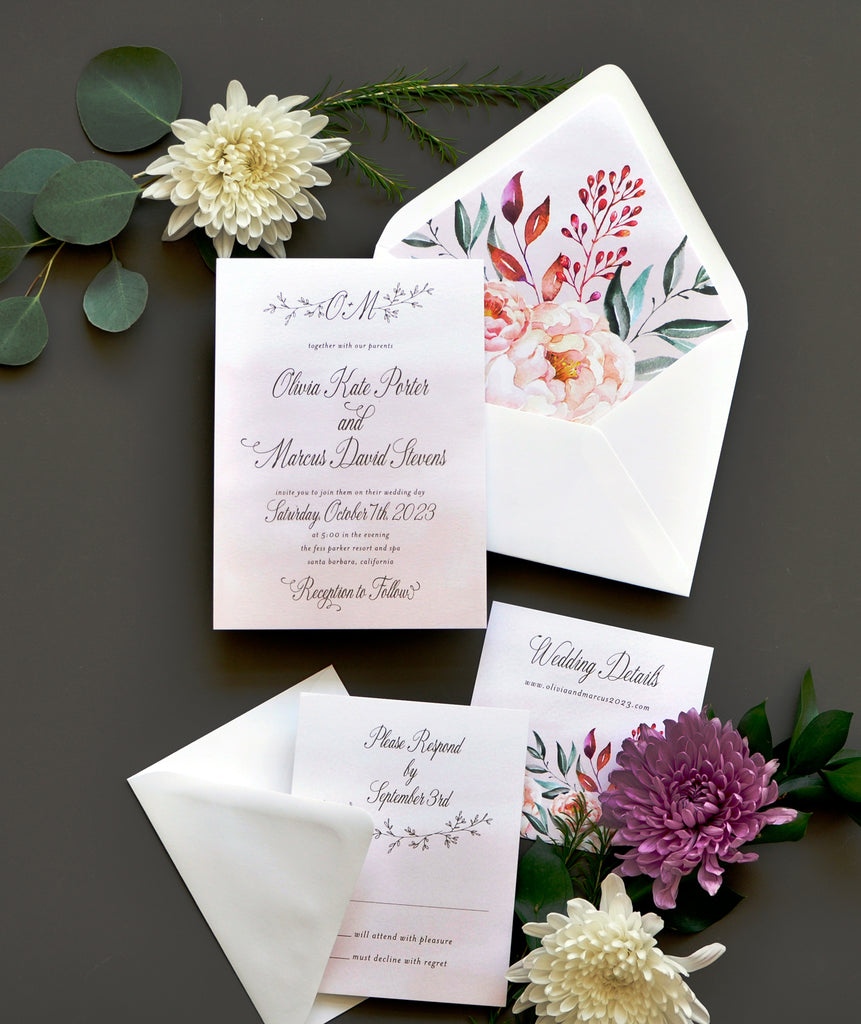 Smitten Enchanted Drift Invitation