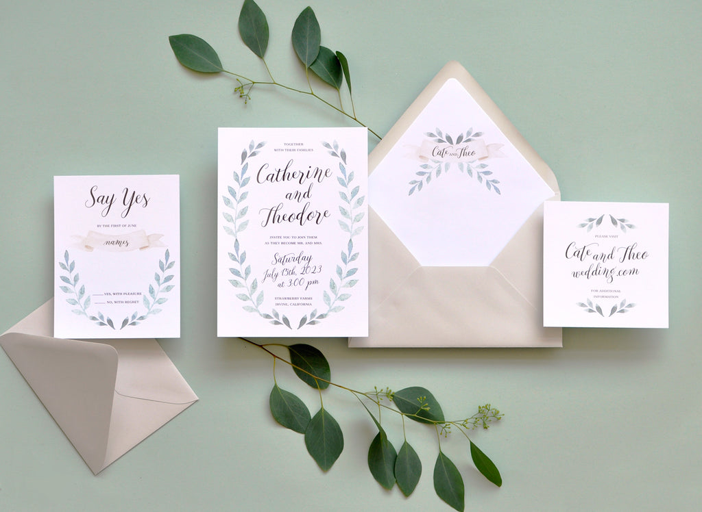 Fairfield Custom Wedding Invitation