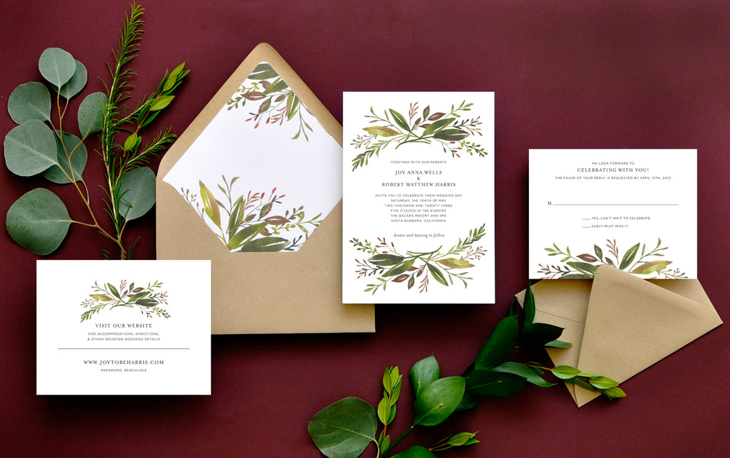 Harvest Garden Custom Wedding Invitation