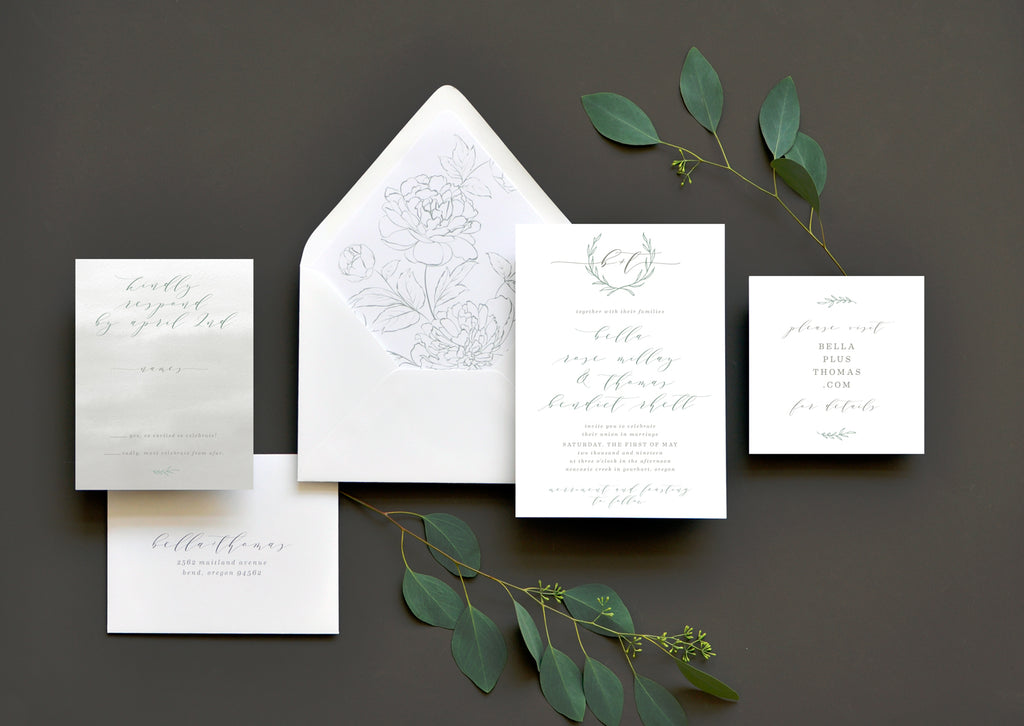 Heirloom Romance Custom Wedding Invitation