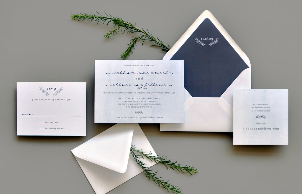 Homewood Custom Wedding Invitation