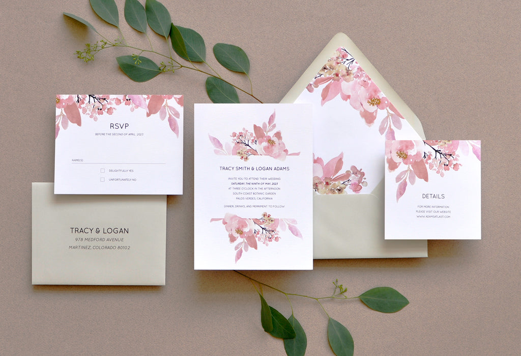Love Abloom Smitten Custom Wedding Invitation