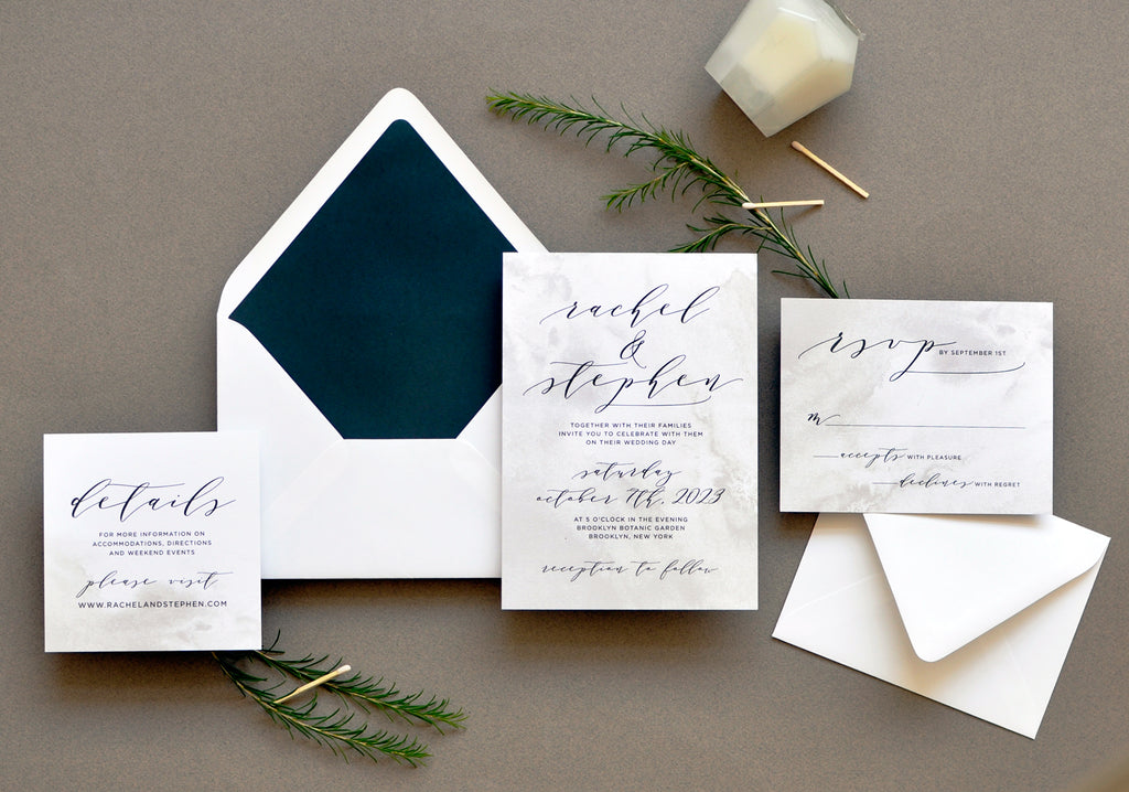 Modern Stone Custom Wedding Invitation