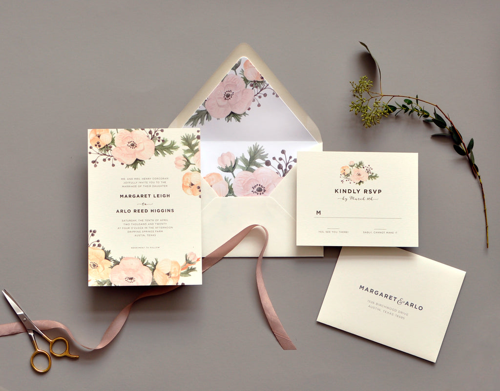 Secret Garden Custom Wedding Invitation