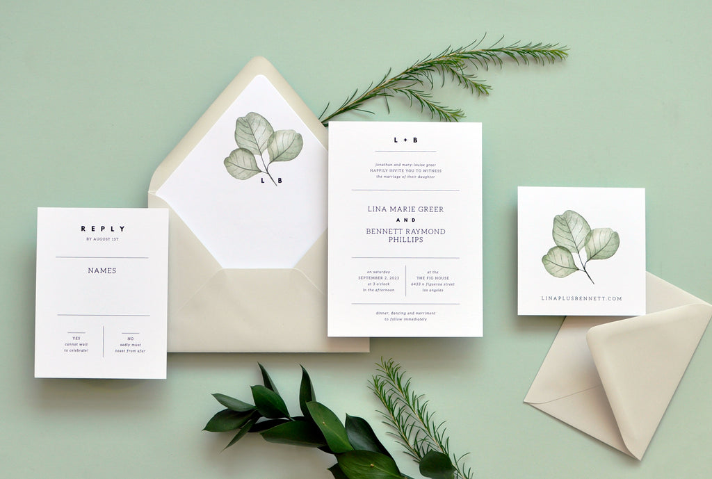 Simply Modern Custom Wedding Invitation