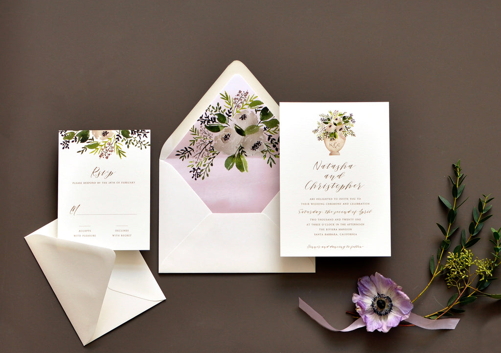 Sweet Bouquet  Custom Wedding Invitation