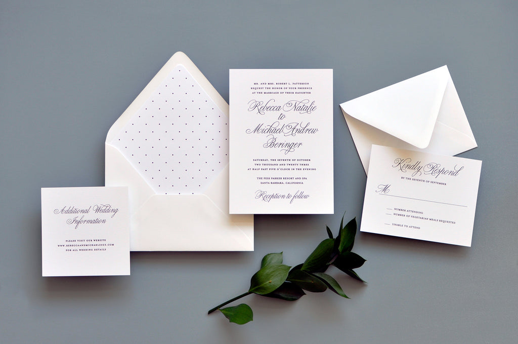 Traditional Elegance Custom Wedding Invitation
