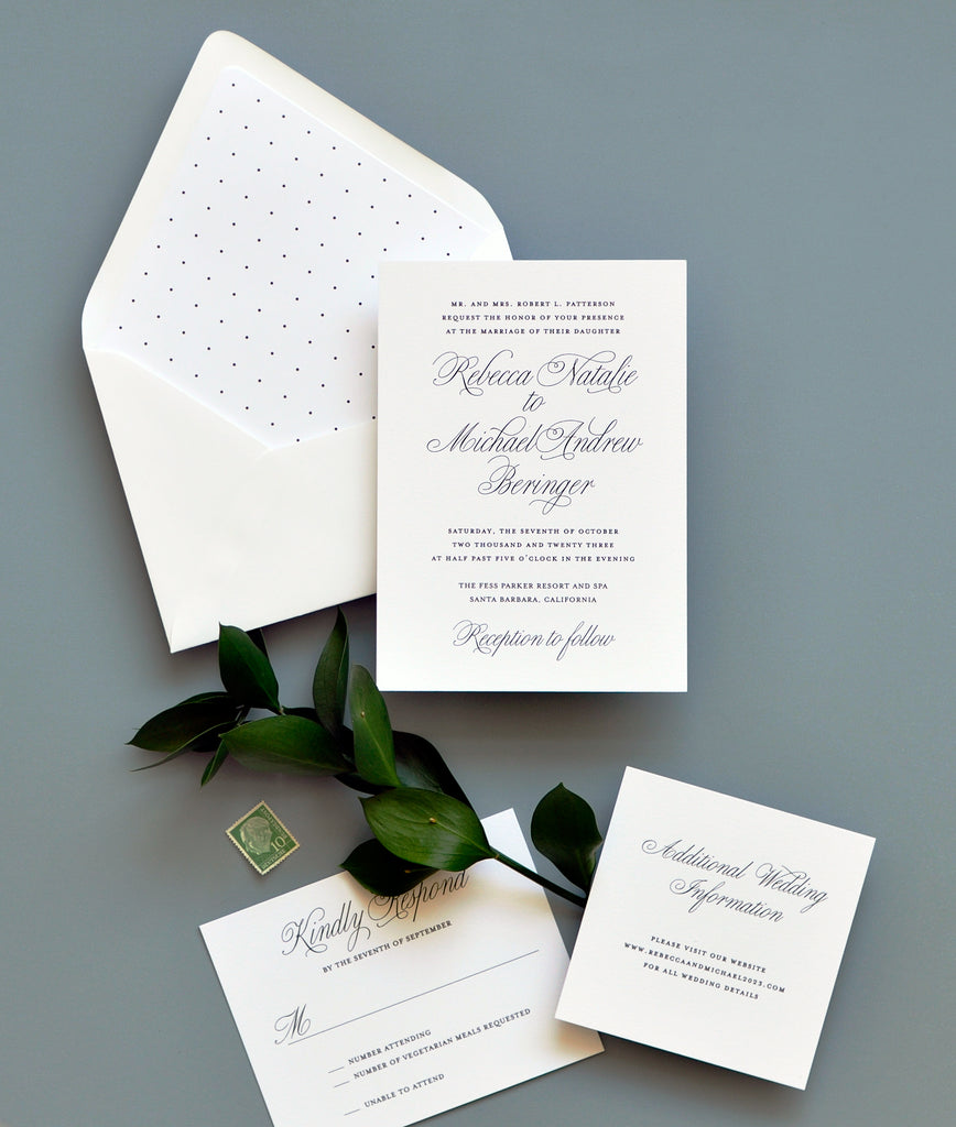 Smitten Traditional Elegance Invitation