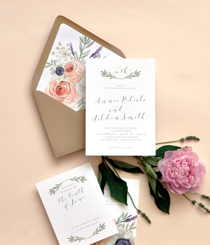Smitten Wild Rose Invitation