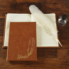 Feather Embossed Guestbook