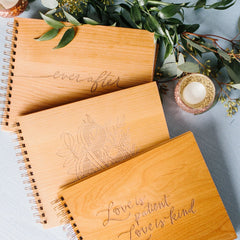 Wooden Cover Guestbooks