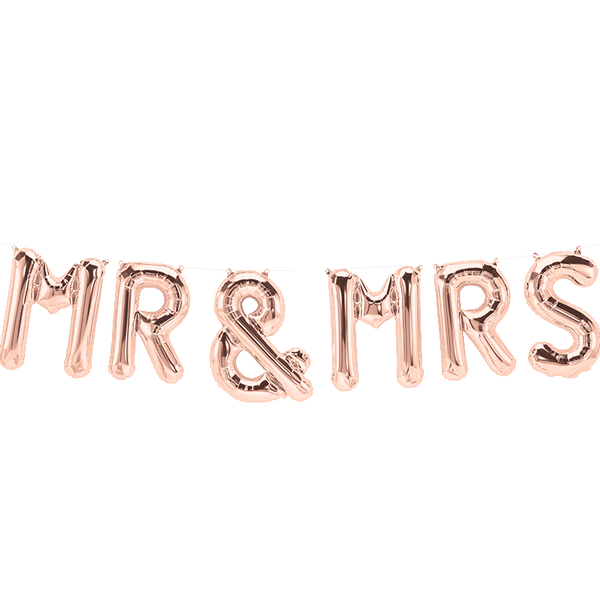 Mr & Mrs Balloon Banner