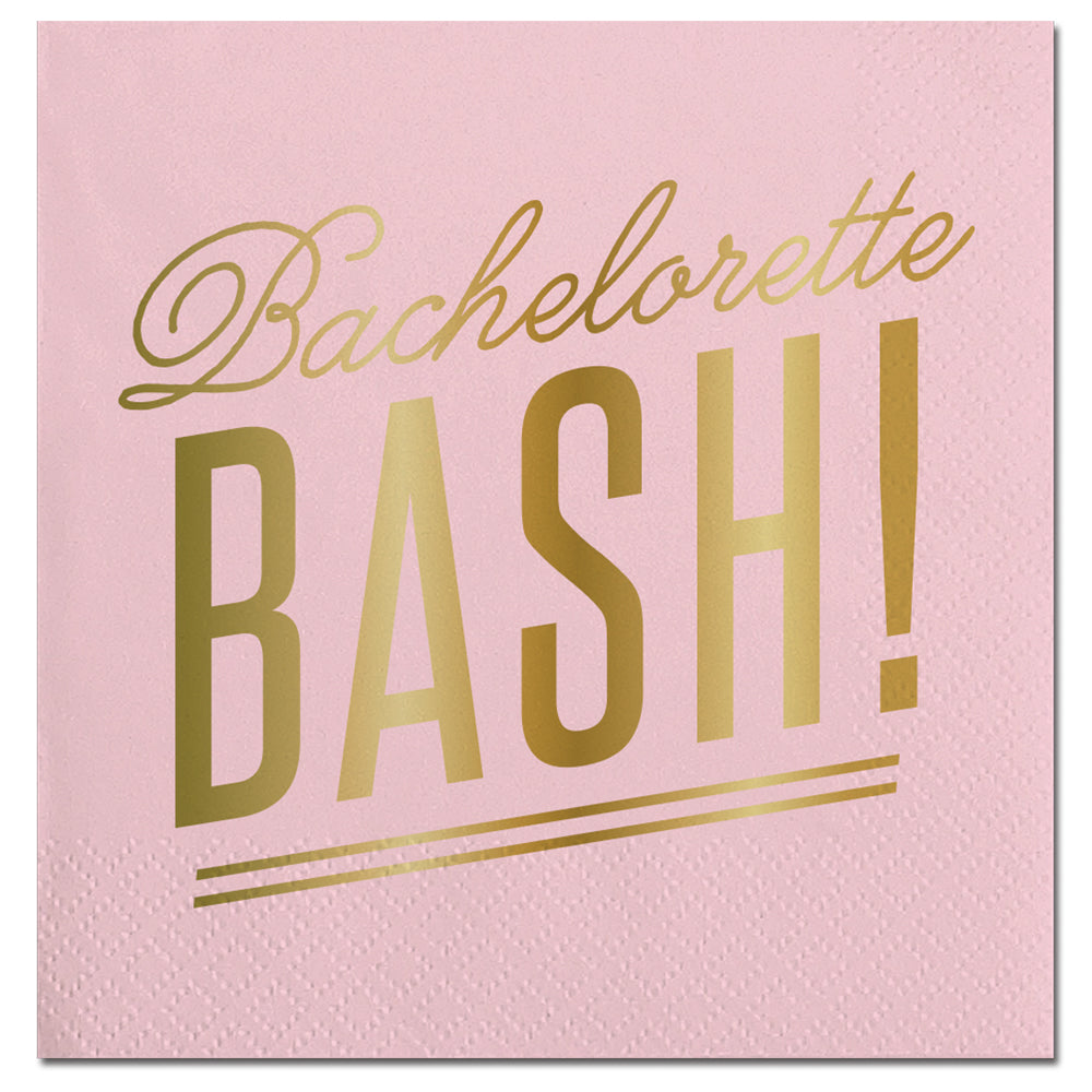 Bachelorette Bash Beverage Napkin Slant Collections - Cork Collection