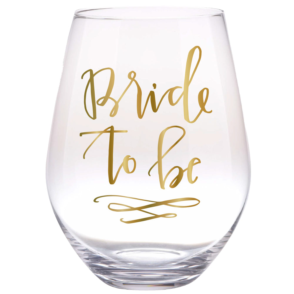 Bride to Be Jumbo Stemless Wine Glass