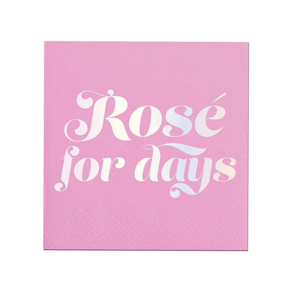 Rose For Days Beverage Napkin Slant Collections - Cork Collection