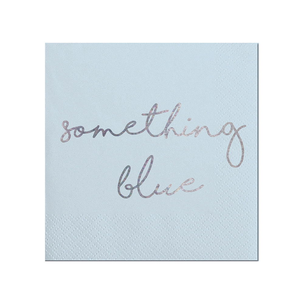Something Blue Beverage Napkin Slant Collections - Cork Collection