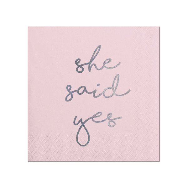 She Said Yes Beverage Napkin Slant Collections - Cork Collection