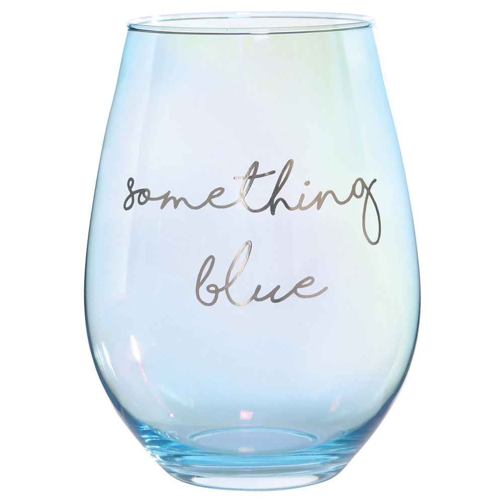 Something Blue Jumbo Stemless Wine Glass