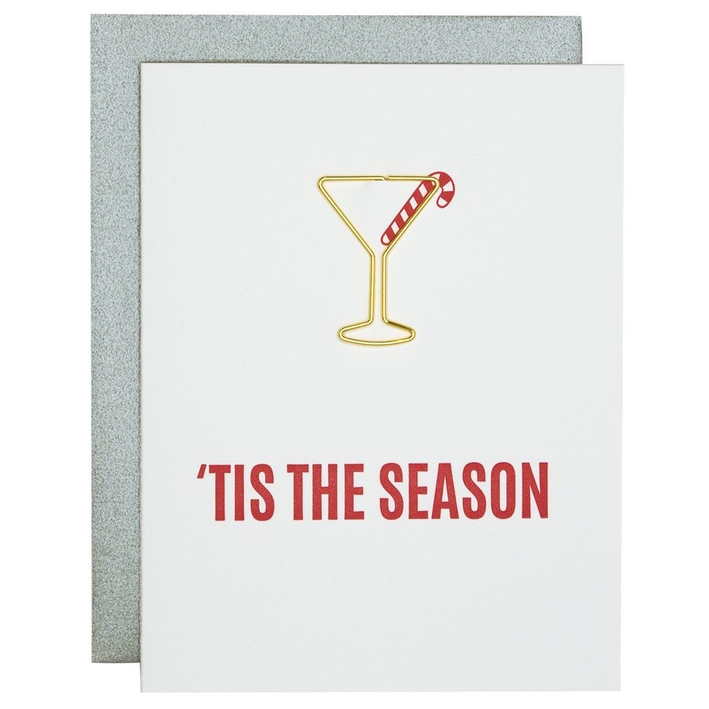 Tis The Season Paperclip Letterpress Card by Chez Gagne Chez Gagne - Cork Collection