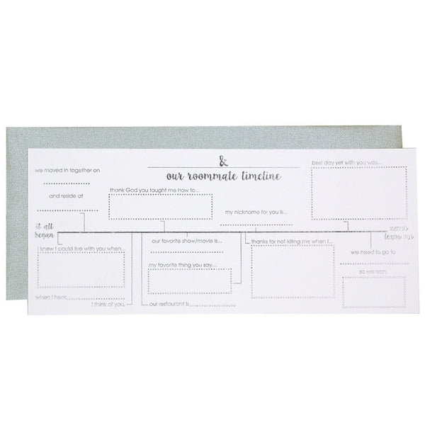 Roommate Timeline Card Chez Gagne Chez Gagne - Cork Collection