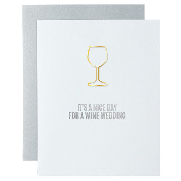 Nice Day for a Wine Wedding Card By Chez Gagne