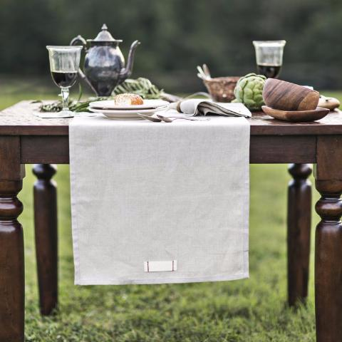 Linen Table Runner Heirloomed - Cork Collection