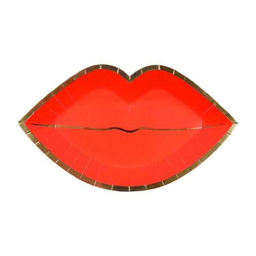 Red Lip Plates Meri Meri - Cork Collection