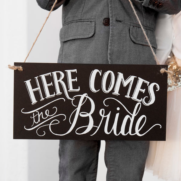Here Comes the Bride/Just Married Reversable Sign