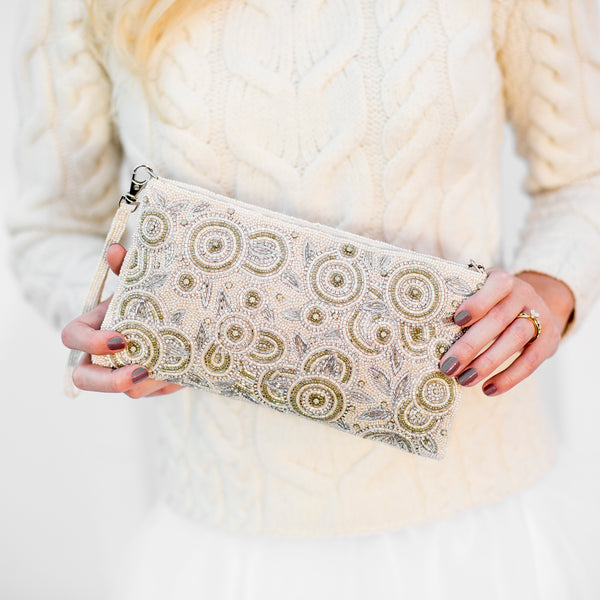 Ever After Ivory Clutch - Bridal Handbag
