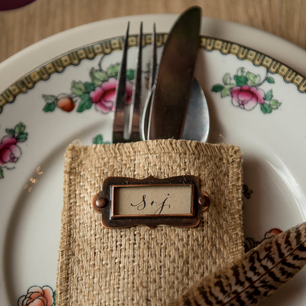 Message Maker Silverware Pouches Cutlery Couture - Cork Collection