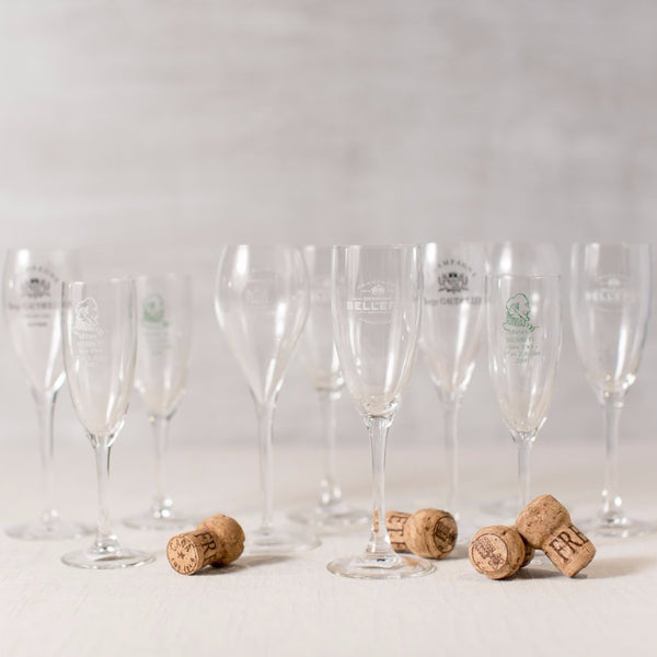 Assorted Vintage French Champagne Flutes