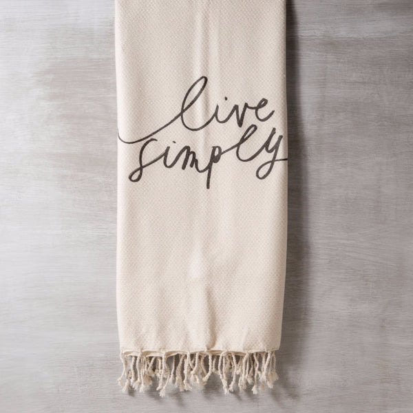 Live Simply Throw Blanket PCB Home - Cork Collection