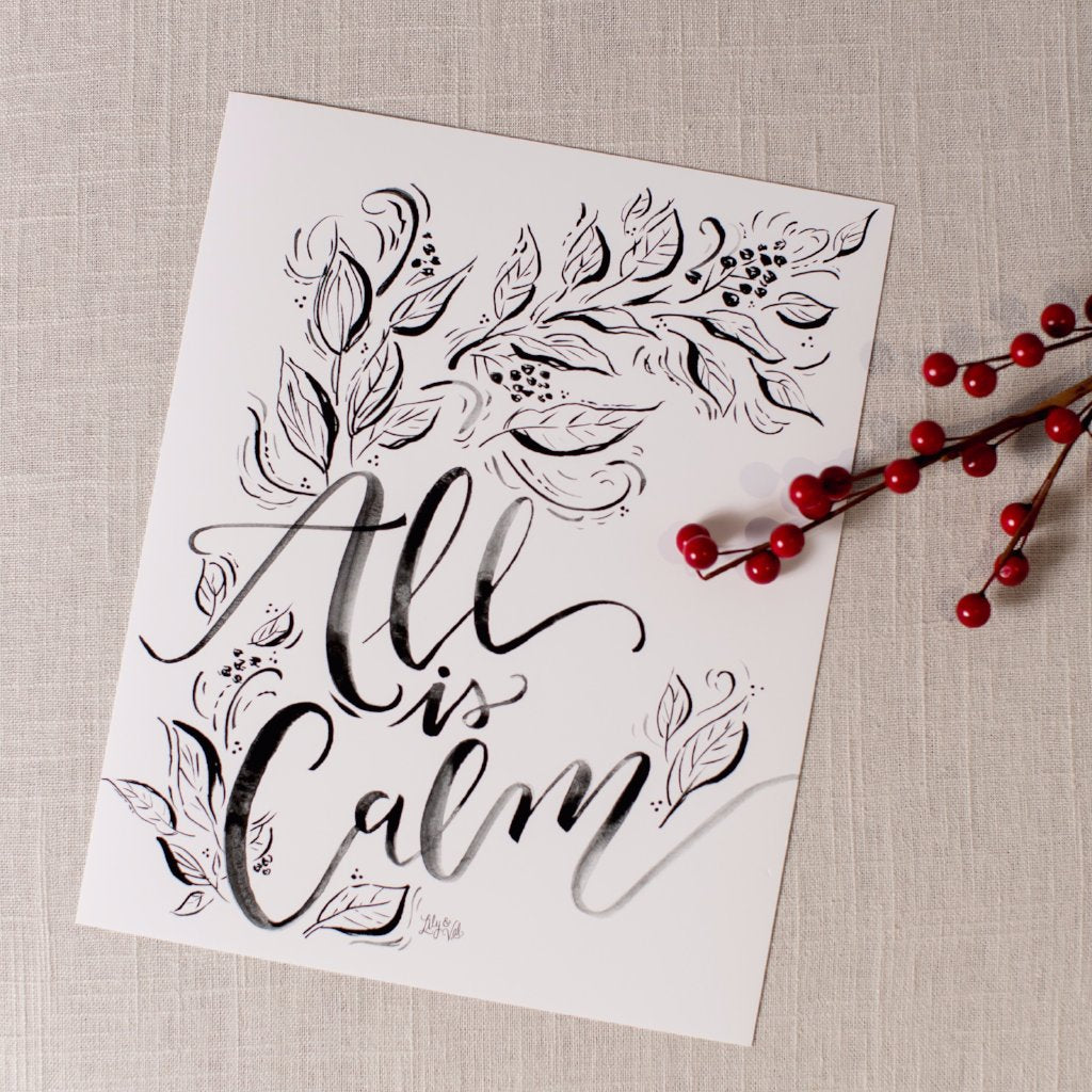 All Is Calm Print Lily and Val - Cork Collection