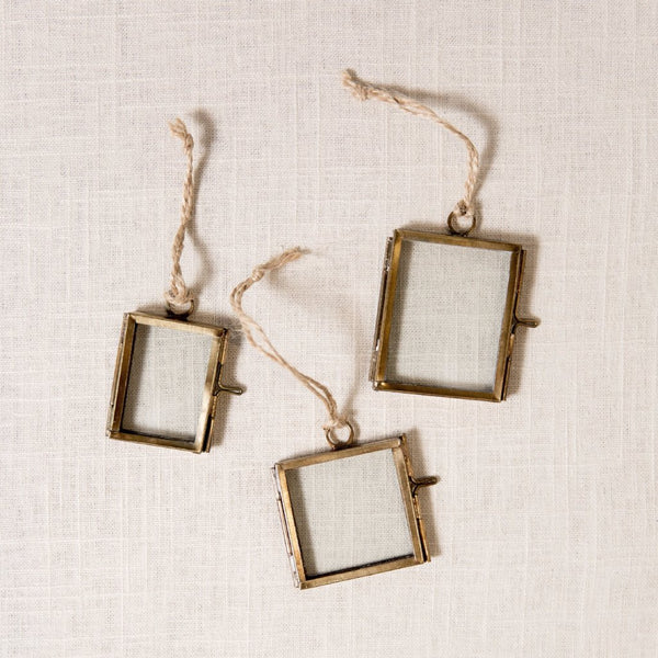 Glass Hinged Frame Ornaments