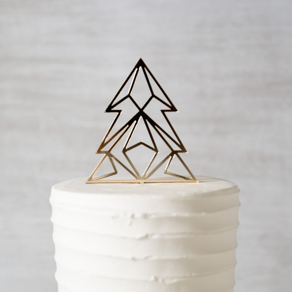 Geo Tree Cake Topper - Holiday Decor