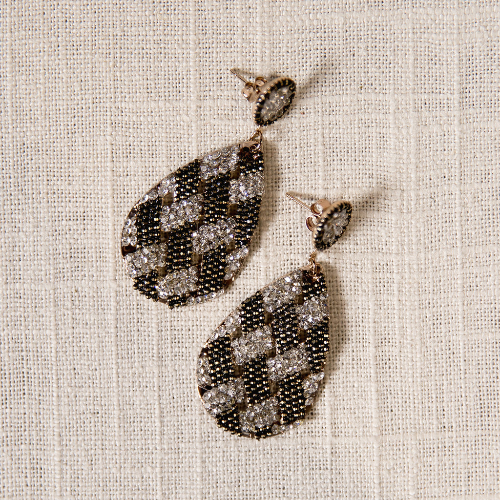 Lattice Drop Earrings Theia - Cork Collection