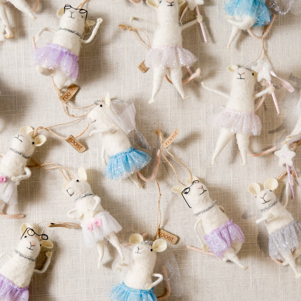 Ballerina Mouse Ornament Roost - Cork Collection