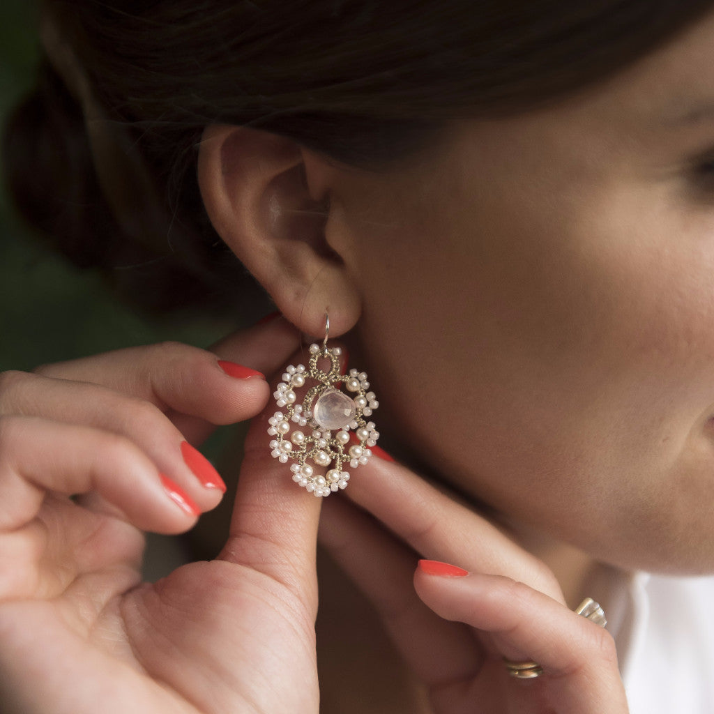 Francesca Earrings Lorina Balteanu - Cork Collection