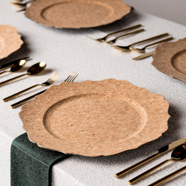 Cork Scalloped Charger Two's Company, Inc. - Cork Collection